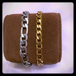 Set of Two Stainless Steel Bracelets